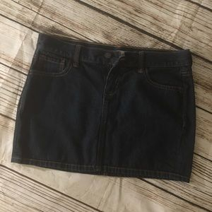 Old Navy Dark Wash Denim Mini Skirt